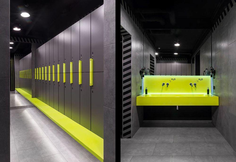 Tủ locker compact chịu nước cho phòng gym